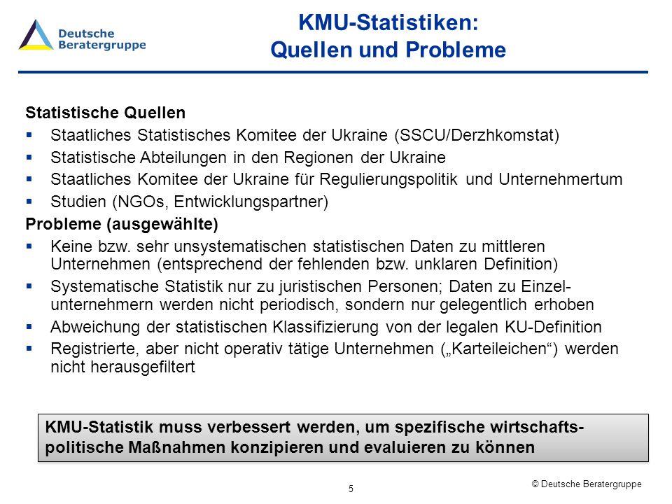 © Deutsche Beratergruppe KMU: Wovon reden wir.Aufgrund der Probleme bzgl.