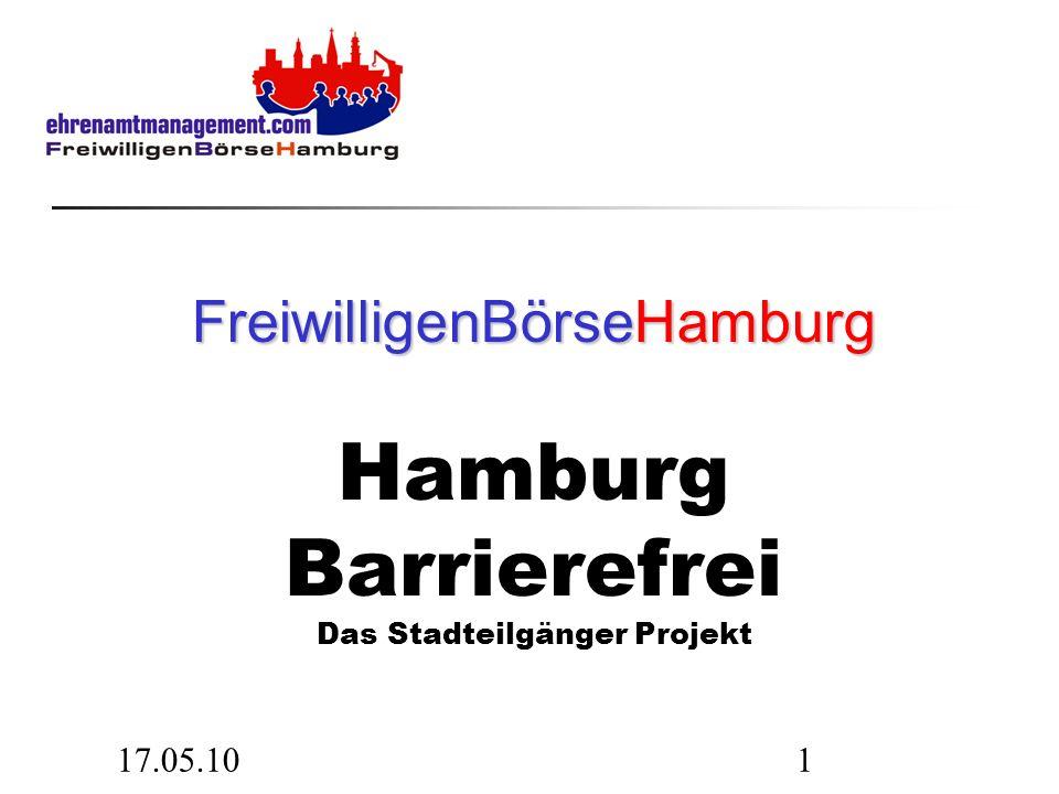17.05.101 FreiwilligenBörseHamburg FreiwilligenBörseHamburg Hamburg Barrierefrei Das Stadteilgänger Projekt
