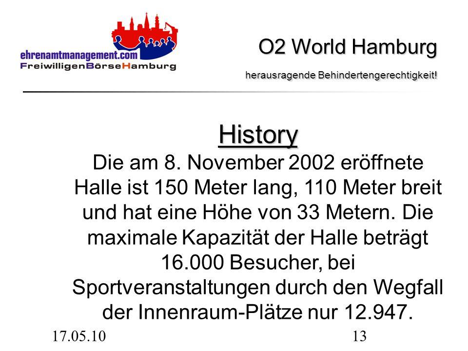 17.05.1013 History History Die am 8. November 2002 eröffnete Halle ist 150 Meter lang, 110 Meter breit und hat eine Höhe von 33 Metern. Die maximale K