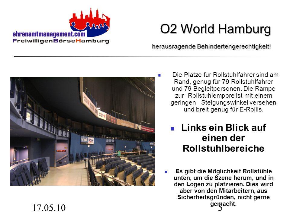 17.05.1016 O2 World Hamburg Der O2 World Hamburg fehlt eine direkte Anbindung an das Hamburger Schnellbahnnetz.