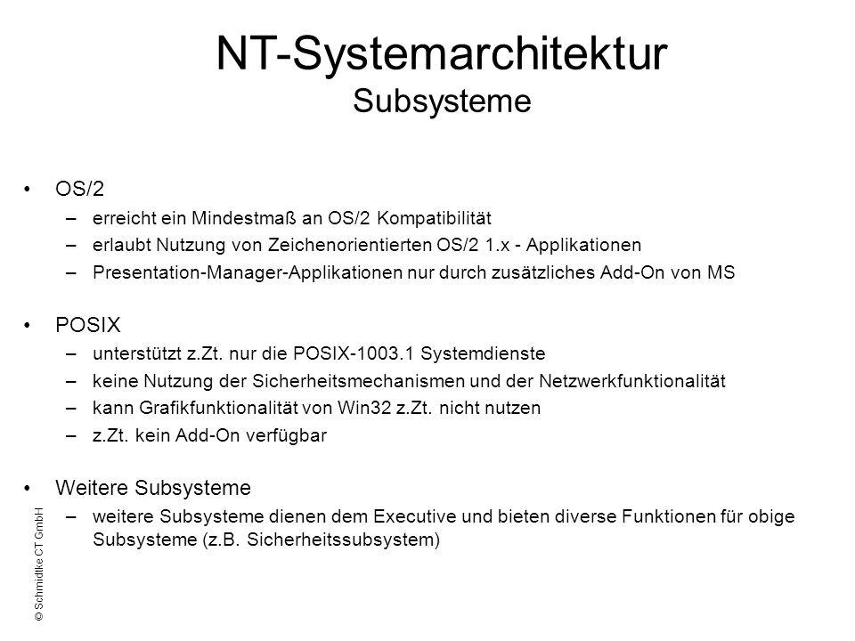 © Schmidtke CT GmbH OS/2 –erreicht ein Mindestmaß an OS/2 Kompatibilität –erlaubt Nutzung von Zeichenorientierten OS/2 1.x - Applikationen –Presentati