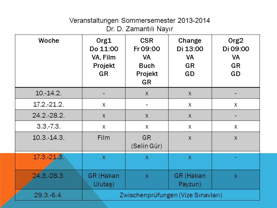 WocheOrg1 Do 11:00 VA, Film Projekt GR CSR Fr 09:00 VA Buch Projekt GR Change Di 13:00 VA GR GD Org2 Di 09:00 VA GR GD 10.-14.2.-xx- 17.2.-21.2.x-xx 2