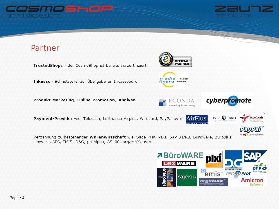 Page 4 TrustedShops – der CosmoShop ist bereits vorzertifiziert.