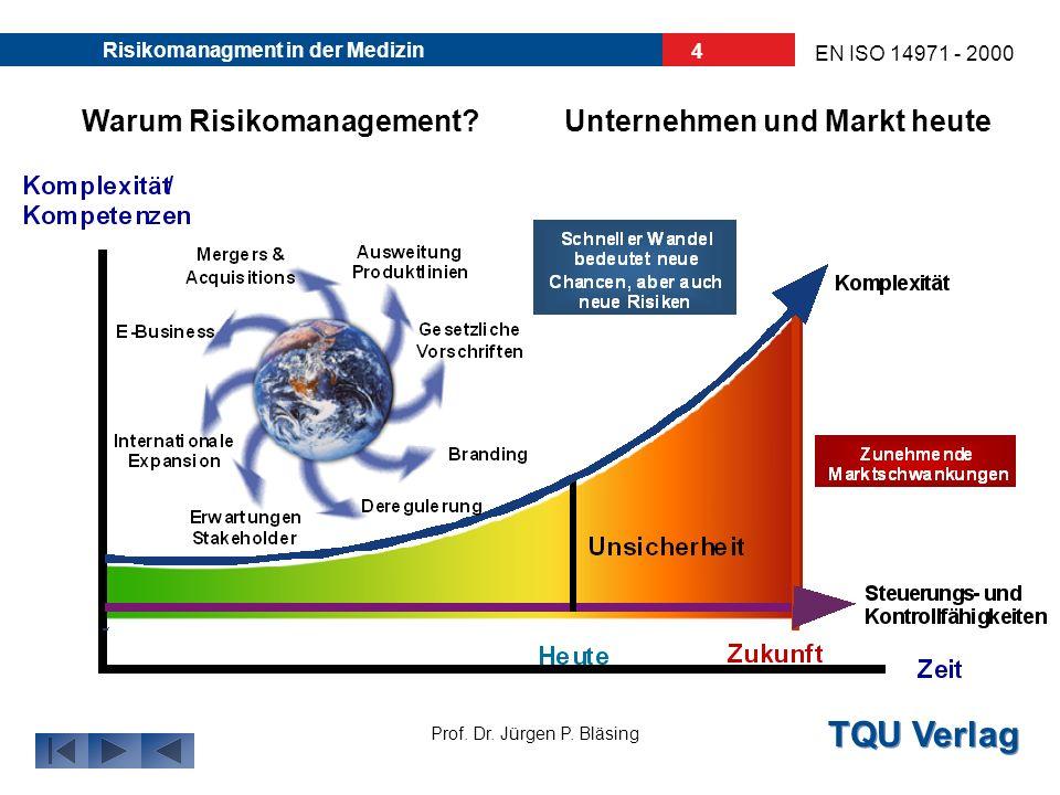 TQU Verlag Prof. Dr. Jürgen P. Bläsing EN ISO 14971 - 2000 Risikomanagment in der Medizin 3