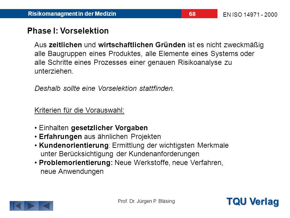 TQU Verlag Prof. Dr. Jürgen P. Bläsing EN ISO 14971 - 2000 Risikomanagment in der Medizin 67 Turbine KaVo GENTLEforce 7000 Extrem verschleissarm, extr