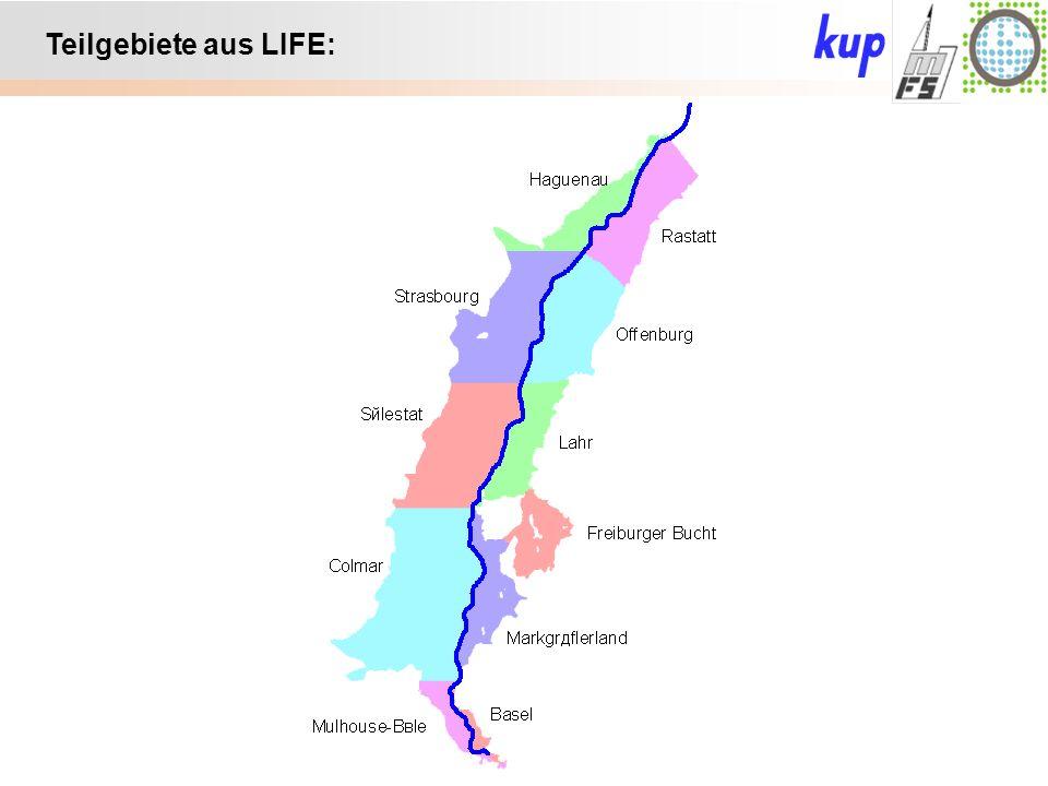 Untersuchungsgebiet: Teilgebiete aus LIFE: