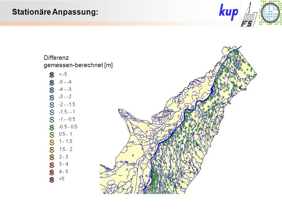 Untersuchungsgebiet: Trockene Streams: Anmerkung: Wasserführung in trockenen Streams durch Umverteilung des Zuschlags teilweise erhöht => weniger trockene Streams