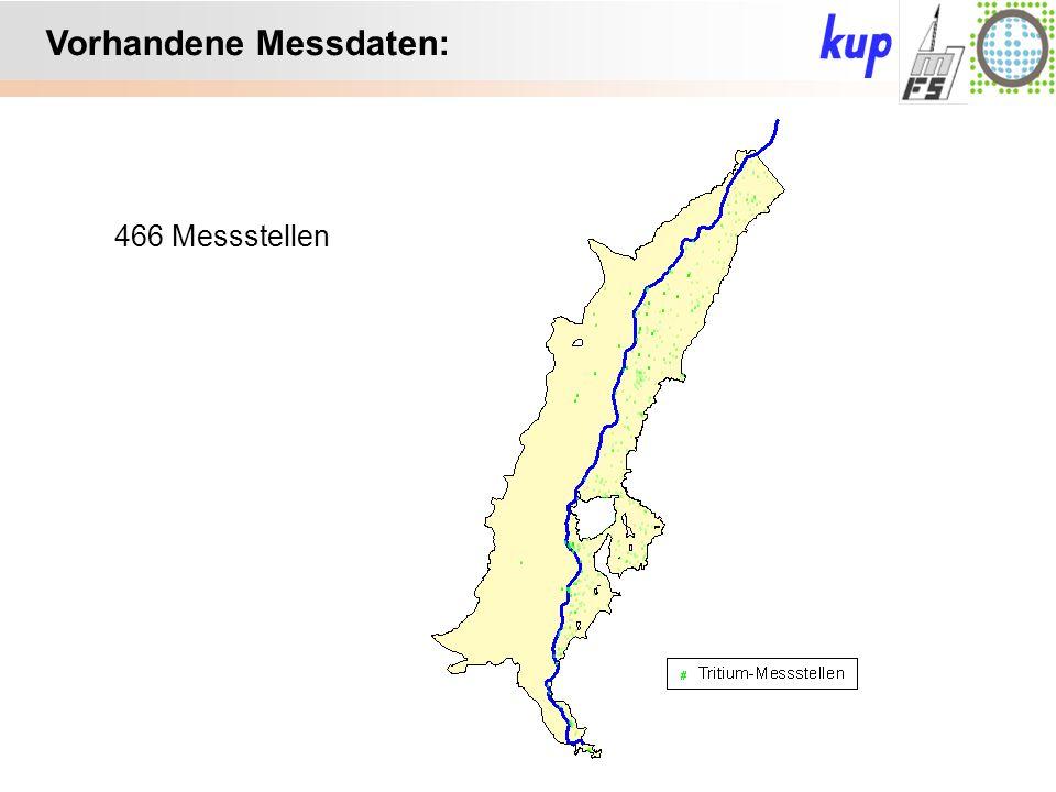 Untersuchungsgebiet: Vorhandene Messdaten: 466 Messstellen
