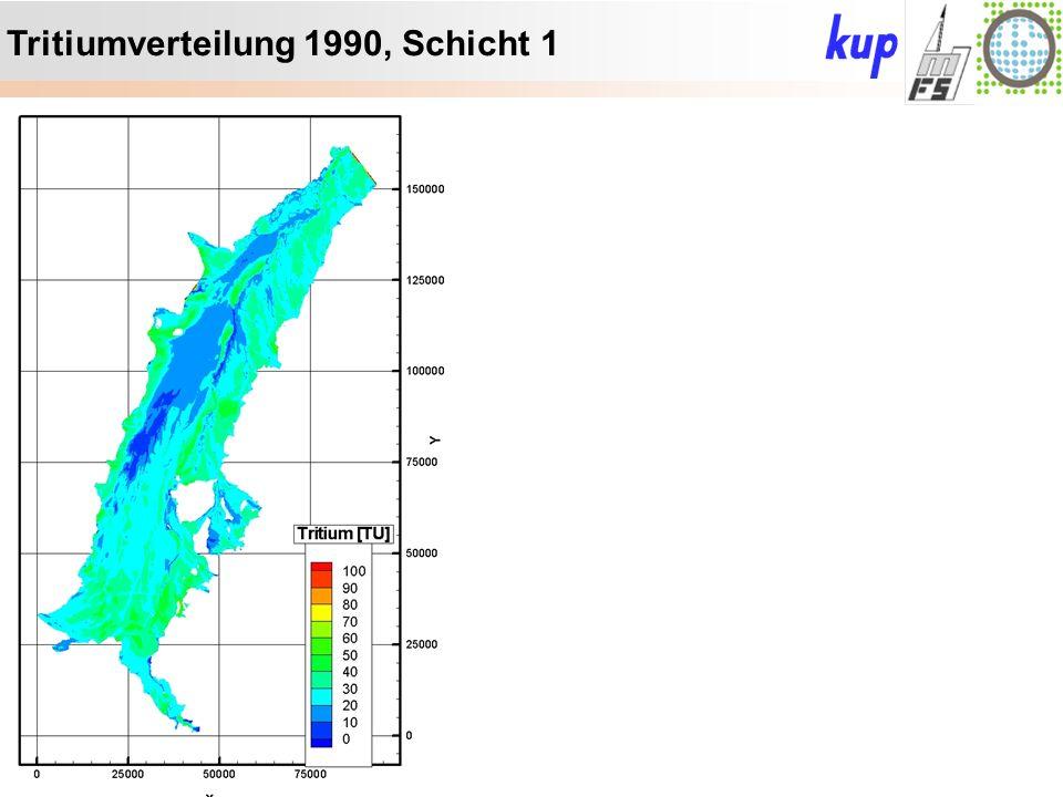 Untersuchungsgebiet: Tritiumverteilung 1990, Schicht 1