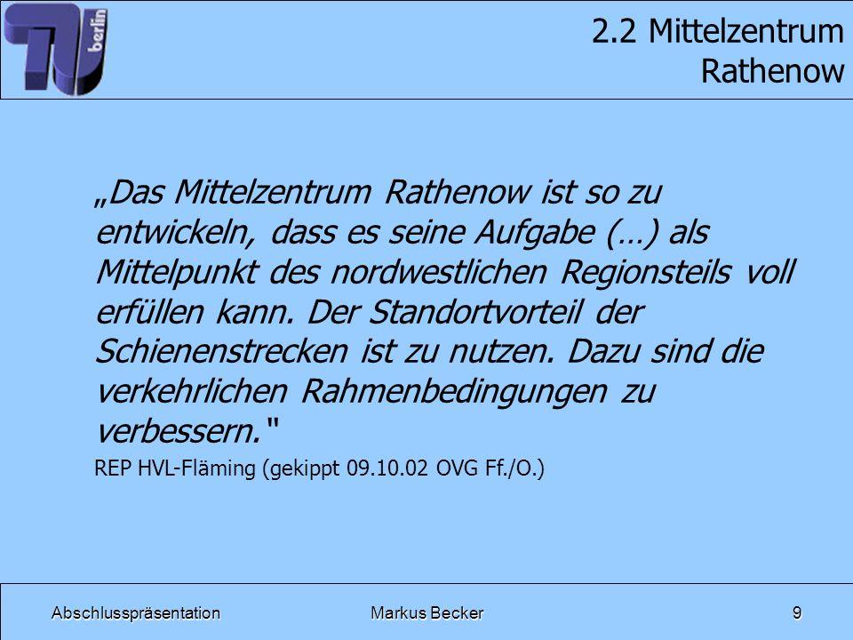 AbschlusspräsentationMarkus Becker10 2.3 Verkehr Nord-Süd Korridor zwischen den großen Achsen: – Berlin – Neustadt/D.