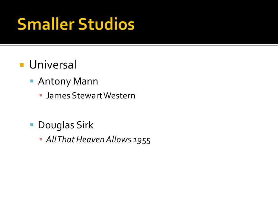 Universal Antony Mann James Stewart Western Douglas Sirk All That Heaven Allows 1955