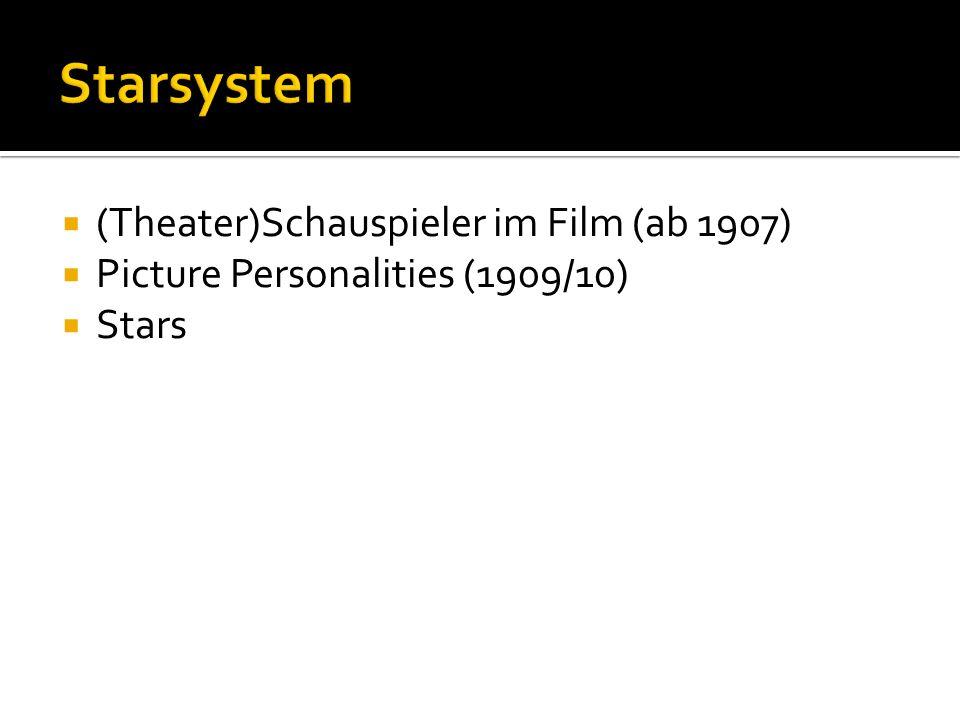 (Theater)Schauspieler im Film (ab 1907) Picture Personalities (1909/10) Stars
