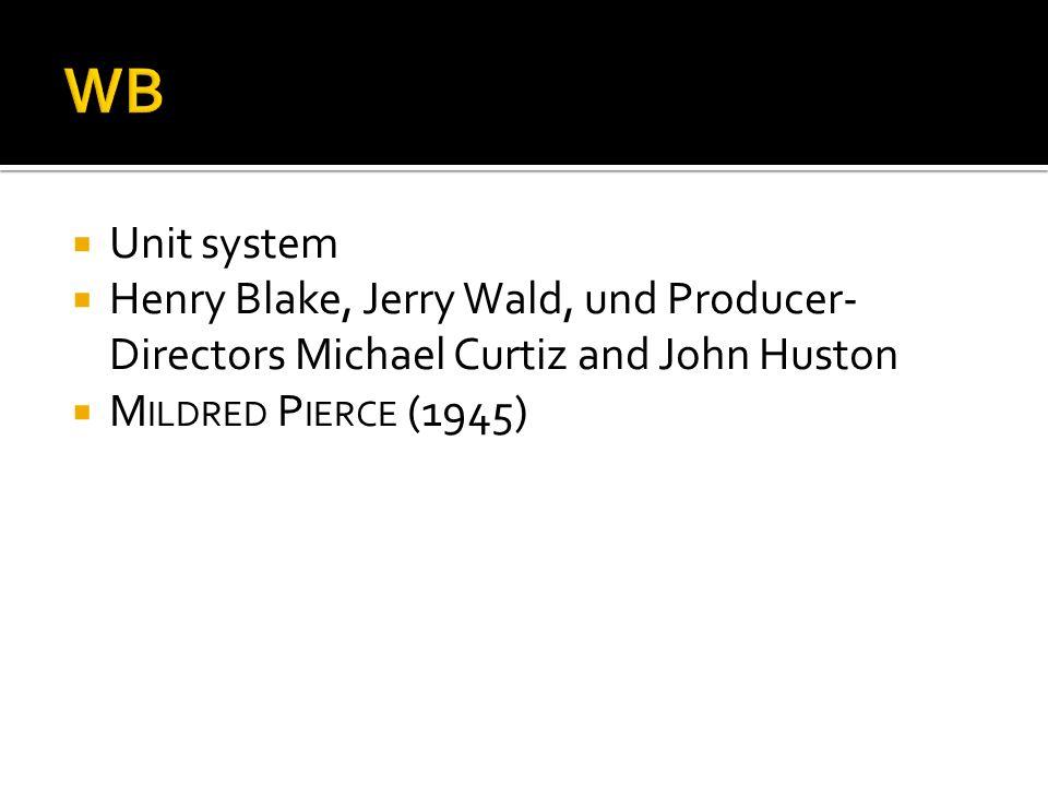 Unit system Henry Blake, Jerry Wald, und Producer- Directors Michael Curtiz and John Huston M ILDRED P IERCE (1945)