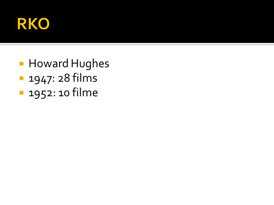 Howard Hughes 1947: 28 films 1952: 10 filme