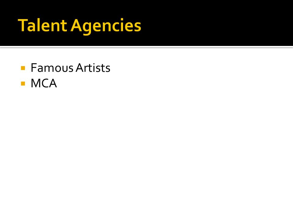 Famous Artists MCA