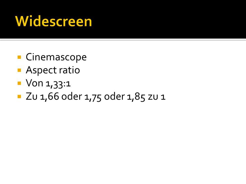 Cinemascope Aspect ratio Von 1,33:1 Zu 1,66 oder 1,75 oder 1,85 zu 1
