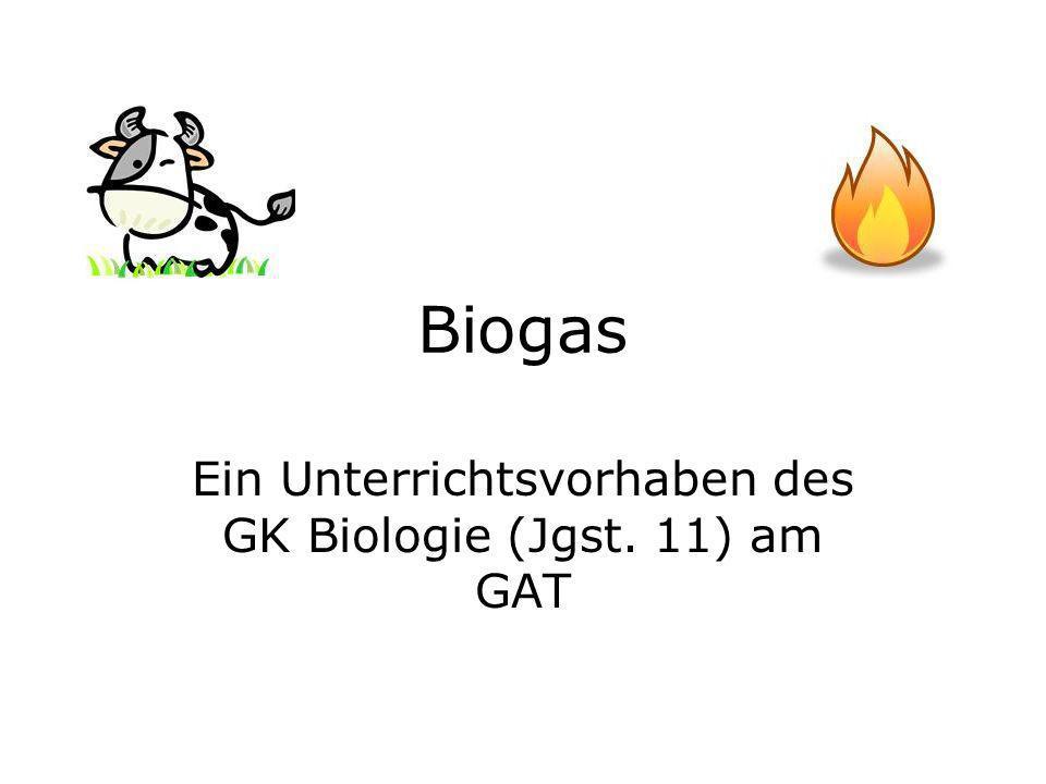Biogas Ein Unterrichtsvorhaben des GK Biologie (Jgst. 11) am GAT