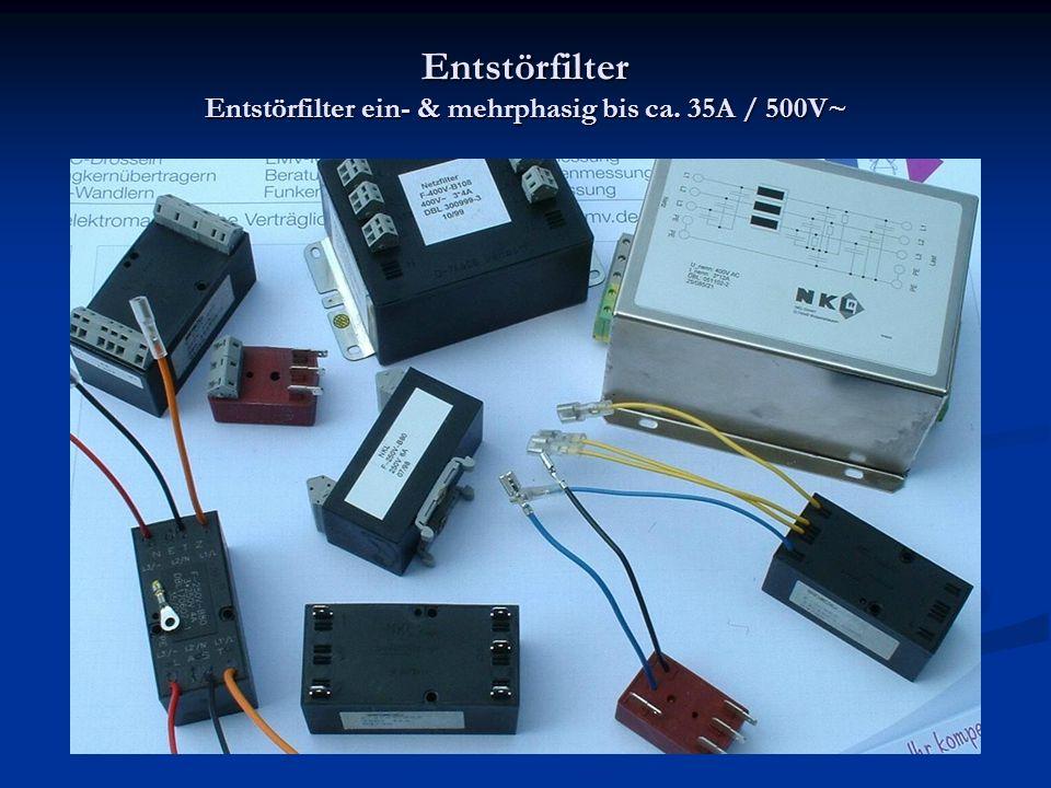 Entstörfilter Entstörfilter ein- & mehrphasig bis ca. 35A / 500V~