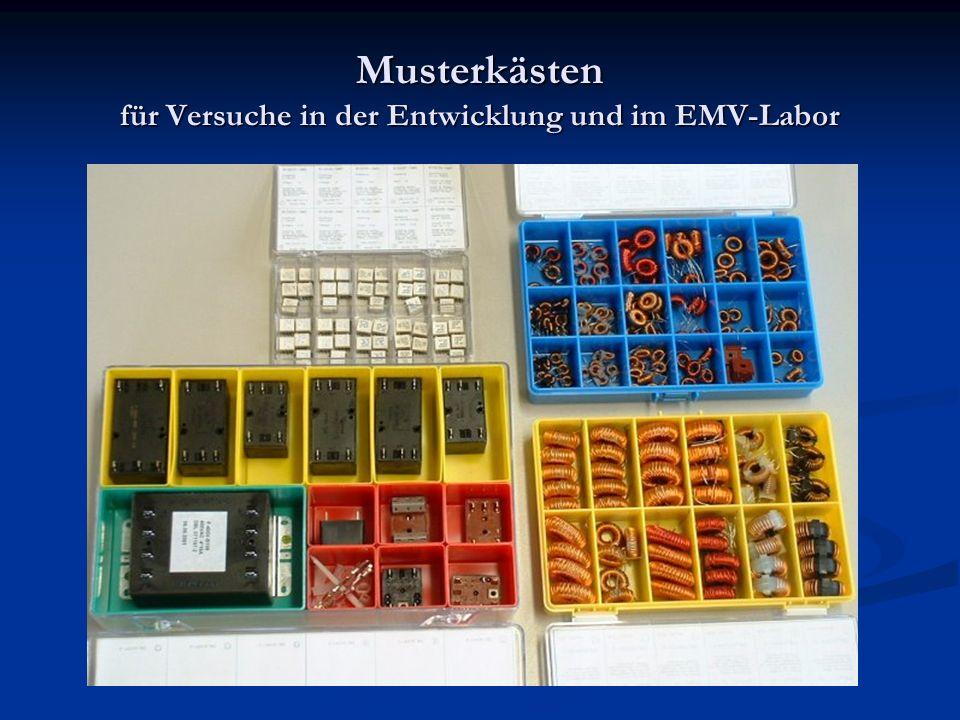 Musterkästen für Versuche in der Entwicklung und im EMV-Labor