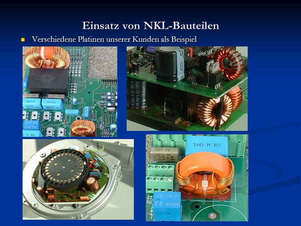Einsatz von NKL-Bauteilen Verschiedene Platinen unserer Kunden als Beispiel Verschiedene Platinen unserer Kunden als Beispiel