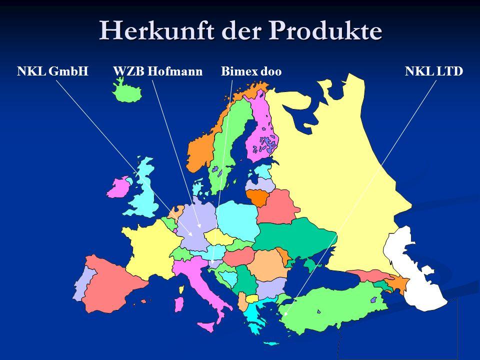 Fertigungsstätten WZB Hofmann D-Hildburghausen: Werkzeugbau, Kunststoffgehäuse NKL LTD T-Izmir: Großserien NKL GmbH D-Wolpertshausen: Zentrale, EMV-Labor, F&E, Kleinserien, Musterbau Bimex doo Sl-Celje: Handwickelei
