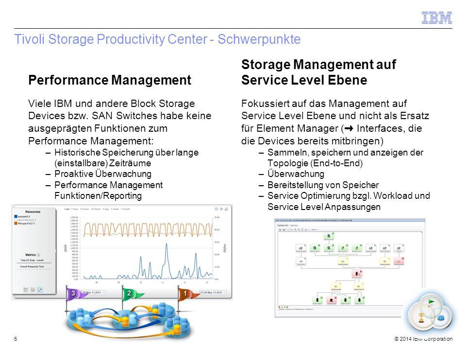 © 2014 IBM Corporation Agentless Server 57 SmartCloud Virtual Storage Center TPC Select