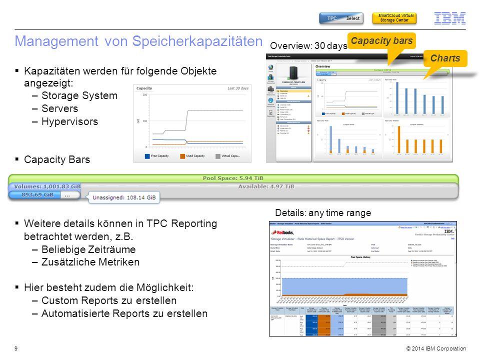 © 2014 IBM Corporation Beispiel: Fabric Overview 40 TPC Select SmartCloud Virtual Storage Center