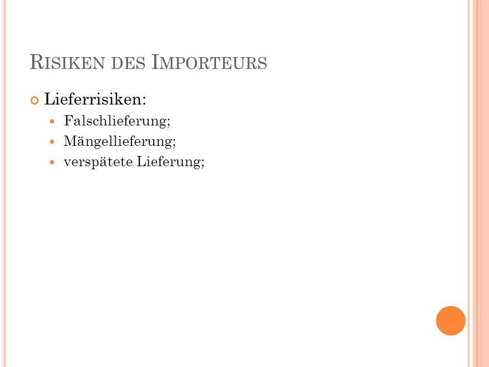 3.1 R EINE Z AHLUNGSINSTRUMENTE 3.1.1 Ü BERWEISUNG ( IN EUR) Importeur (Inländer) = Auftraggeber = Meldepflichtiger Exporteur (Ausländer) = Zahlungs- empfänger Importeurbank = EUR-Konto der Auslandsbank Auslandsbank = Korrespondenzbank 1.