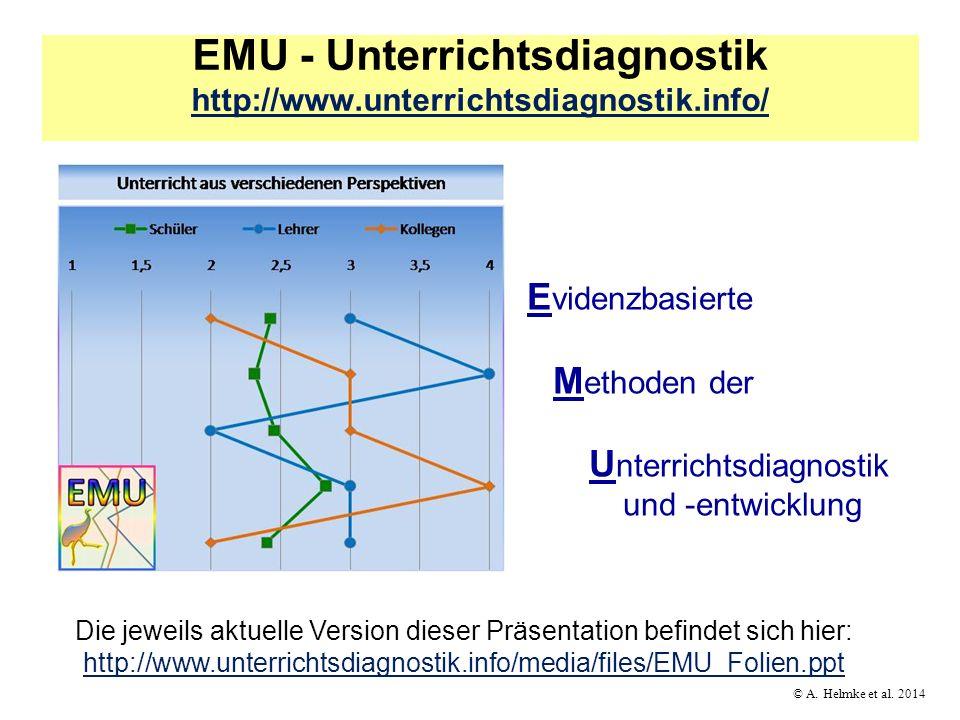 © A.Helmke et al. 2014 Reflexionsgespräch im Tandem Wie ist das Gesamtprofil beschaffen.
