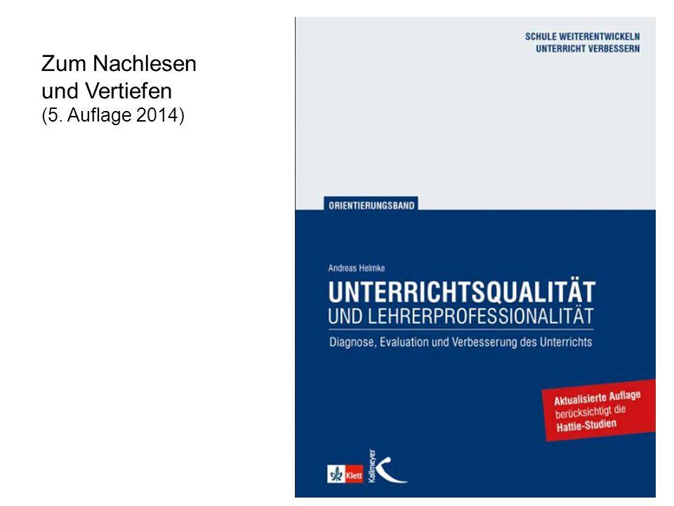 © A. Helmke et al. 2014 Zum Nachlesen und Vertiefen (5. Auflage 2014)