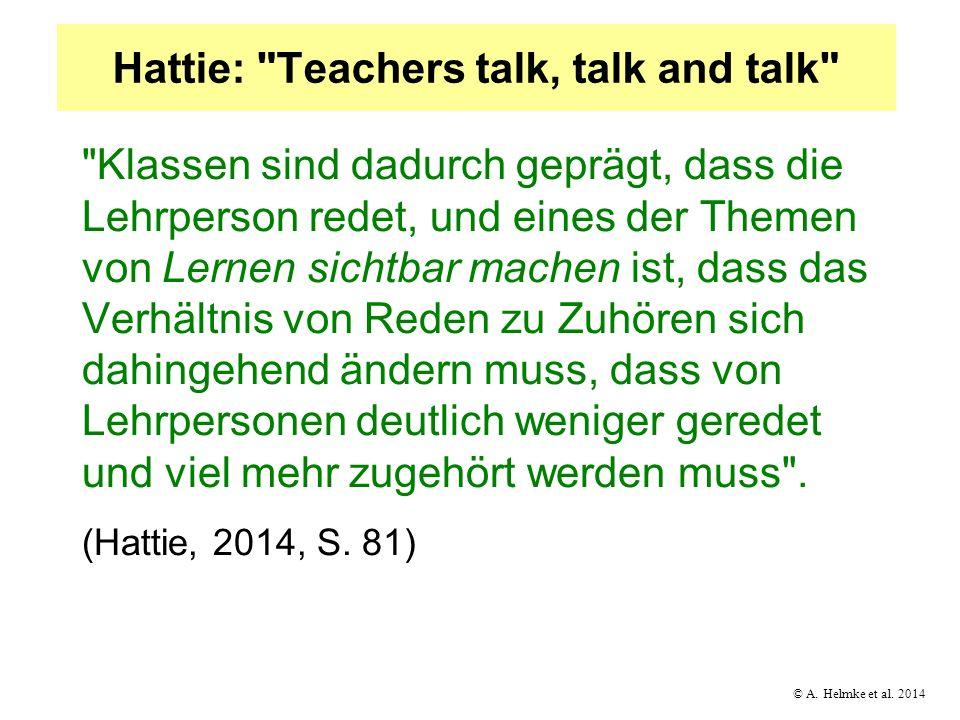 © A. Helmke et al. 2014 Hattie: