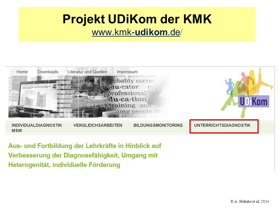 © A. Helmke et al. 2014 Projekt UDiKom der KMK www.kmk-udikom.de/ www.kmk-udikom.de