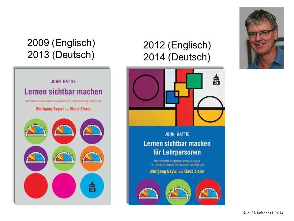 © A. Helmke et al. 2014 2009 (Englisch) 2013 (Deutsch) 2012 (Englisch) 2014 (Deutsch)