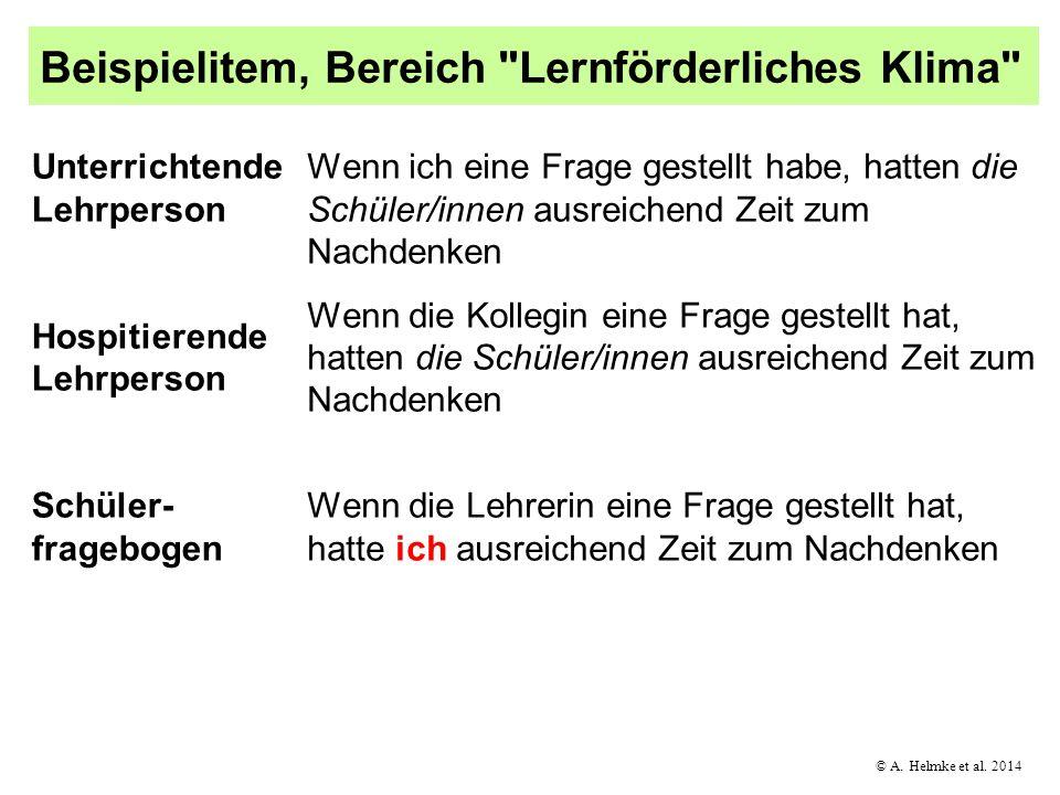 © A. Helmke et al. 2014 Beispielitem, Bereich