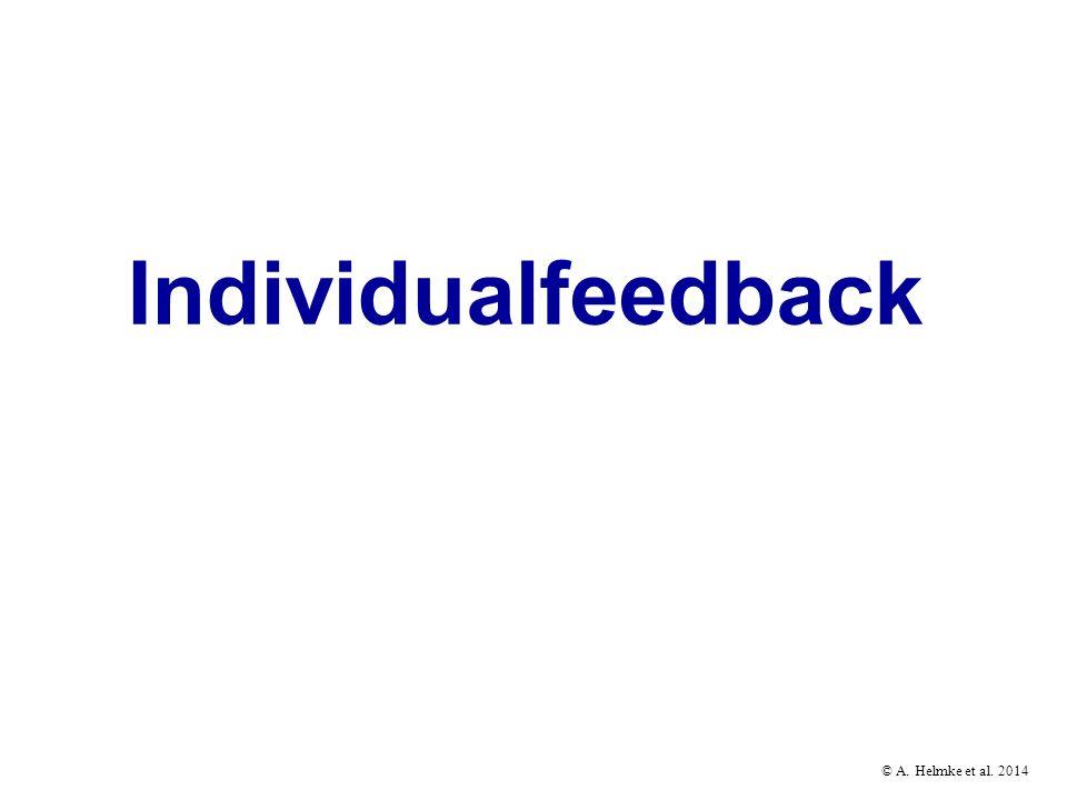 © A. Helmke et al. 2014 Individualfeedback