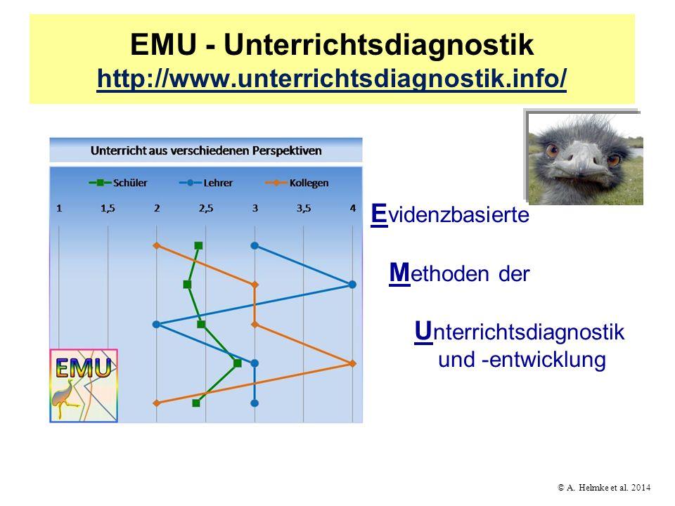 © A. Helmke et al. 2014 EMU - Unterrichtsdiagnostik http://www.unterrichtsdiagnostik.info/ http://www.unterrichtsdiagnostik.info/ E videnzbasierte M e
