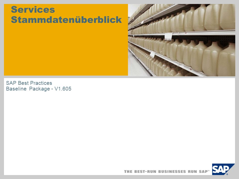 Produkthierarchie Logistik 00001 Top Level 00001B0001 Produkte A (Manufact./Trade) 00001B0002 Produkte B (Services) 00001B000100000001 Produkte A.01 (MTO) 00001B000100000002 Produkte A.02 (MTS) 00001B000100000003 Teile A.03 00001B000200000001 Produkte B.01 00001B000200000002 Produkte B.02 Schicht 1 Schicht 2 Schicht 3 Produkthierarchie Schicht 3 Produktgruppe Schicht 2 CO-PA SOP-Schnittstelle Alle Materialstammsätze zu Produkthierarchieebene 3 zugeordnet Diese Daten werden in BB 104 angelegt.