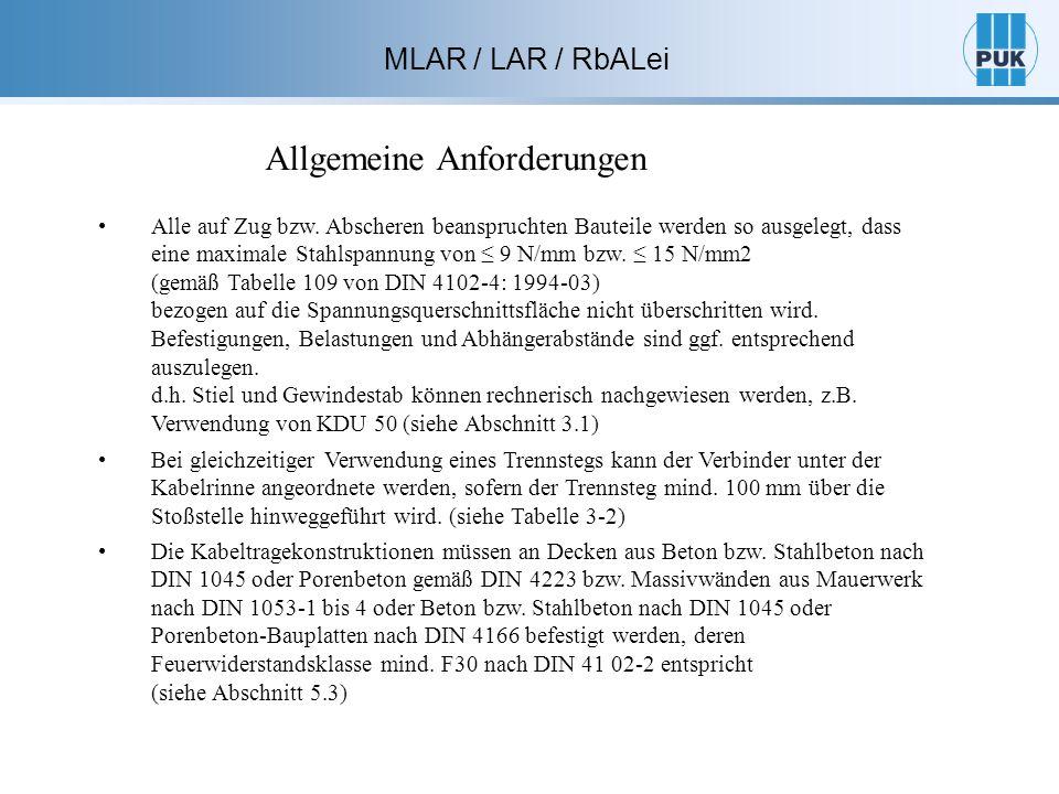 MLAR / LAR / RbALei Alle auf Zug bzw.