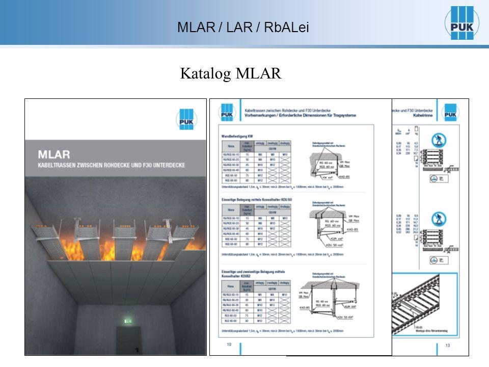 MLAR / LAR / RbALei Katalog MLAR