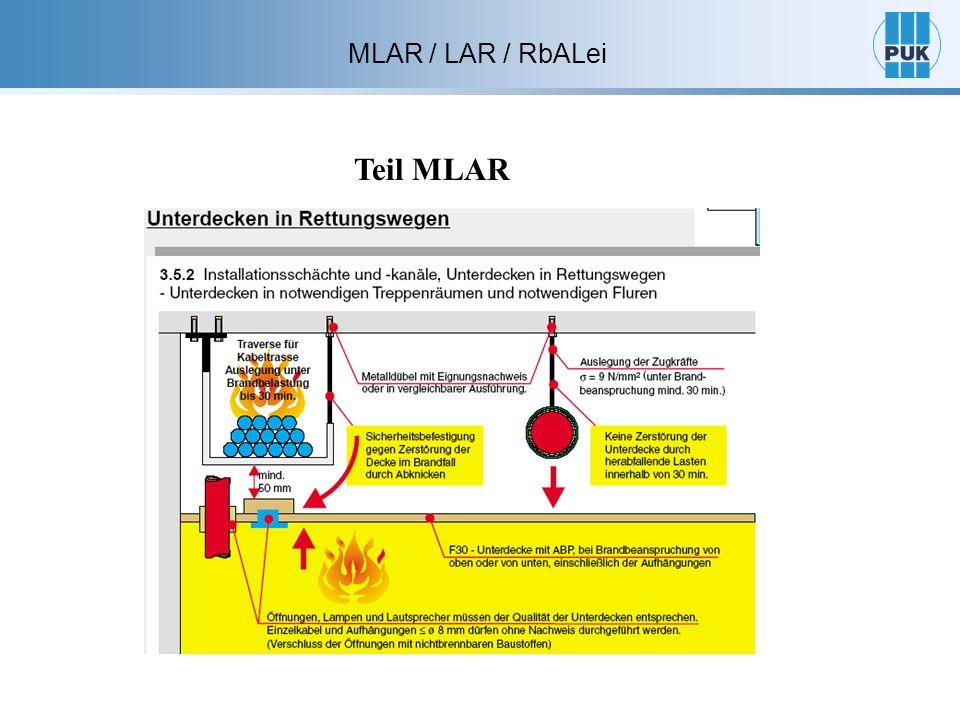 Teil MLAR MLAR / LAR / RbALei