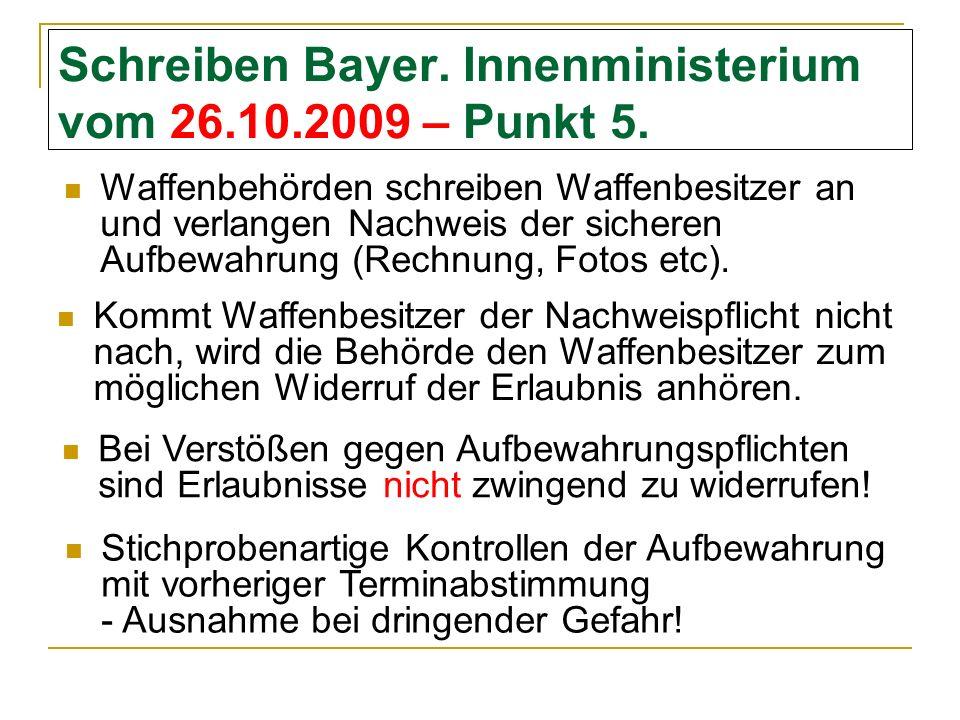 Schreiben Bayer.Innenministerium vom 26.10.2009 – Punkt 5.