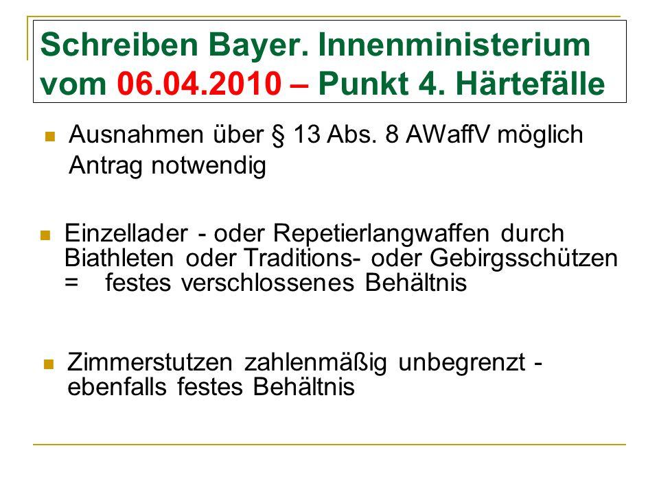 Schreiben Bayer.Innenministerium vom 06.04.2010 – Punkt 4.