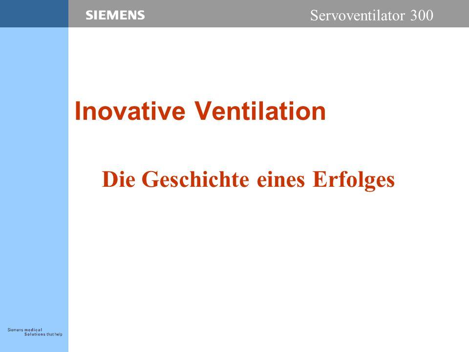 Servoventilator 300 Inovative Ventilation Die Geschichte eines Erfolges