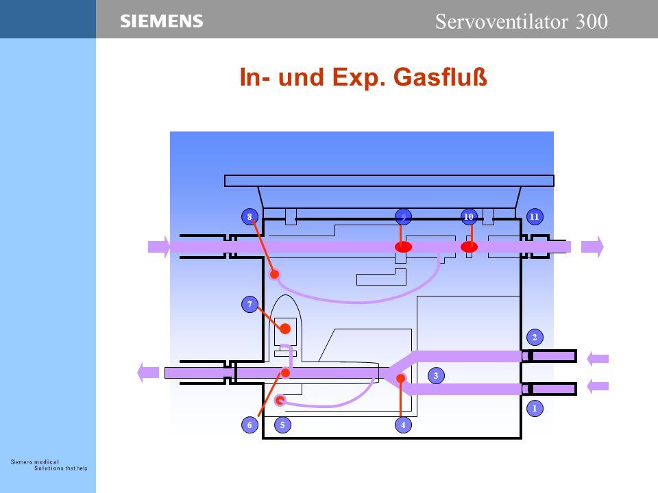Servoventilator 300 In- und Exp. Gasfluß 9 6 8 7 5 2 10 1 3 4 11
