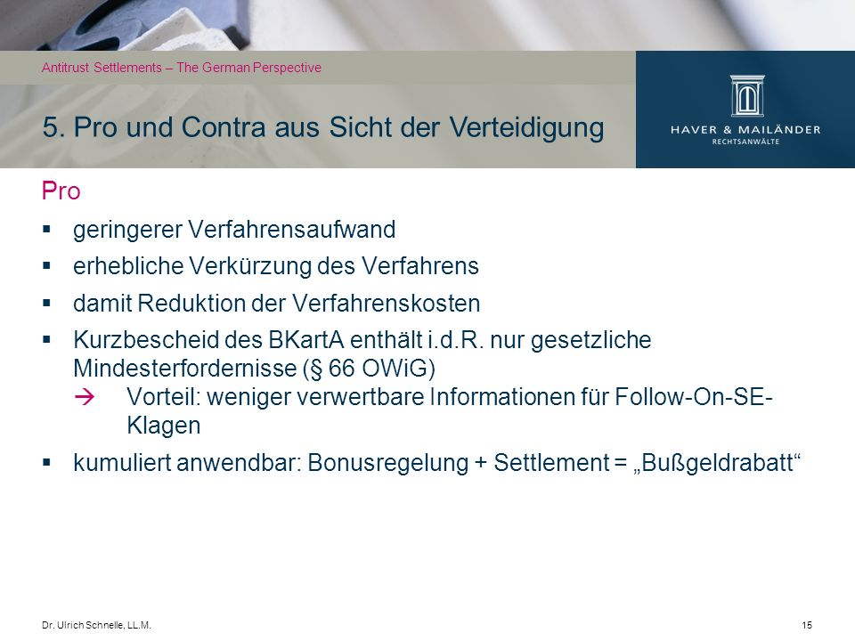 Dr.Ulrich Schnelle, LL.M.16 5.