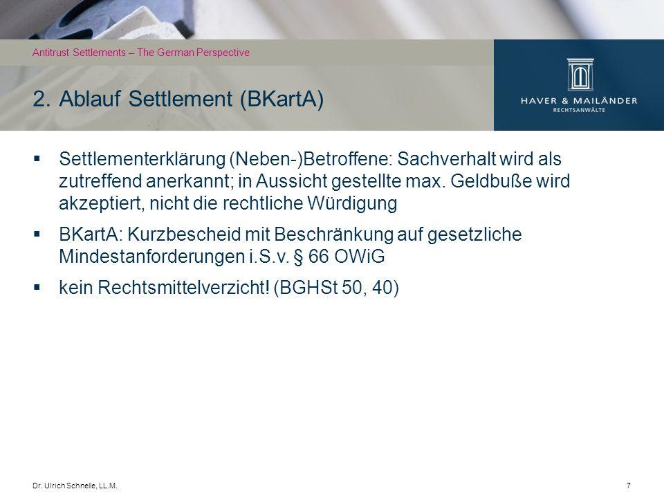 Dr.Ulrich Schnelle, LL.M.8 Heimliche Absprachen unzulässig.