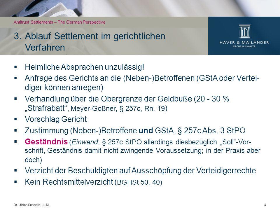 Dr.Ulrich Schnelle, LL.M.9 Problematisch: zweigleisige Verfahren (sog.