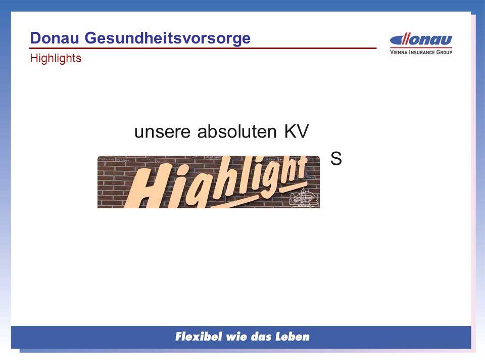 unsere absoluten KV S Donau Gesundheitsvorsorge Highlights