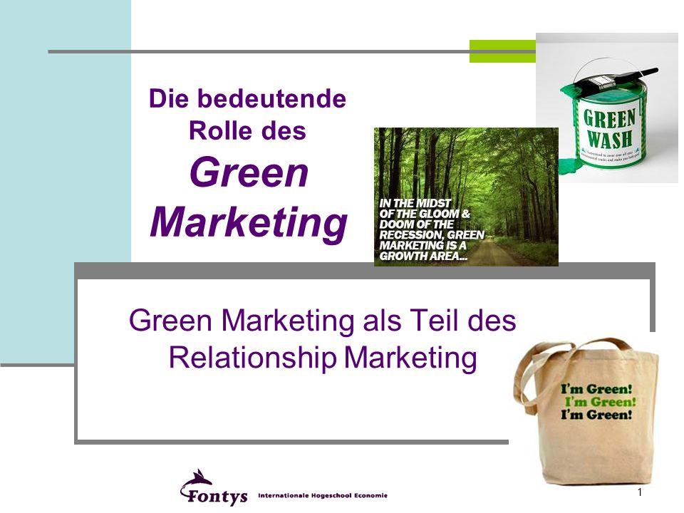 2 2 Green Marketing 1.Einführung 2.Einführung Green-Marketing 3.Strategisches Green-Marketing 4.Zielgruppenbestimmung Green-Marketing 5.Fallstudie: Erfolgreiche Vermarktung von Bio-Obst und Gemüse.