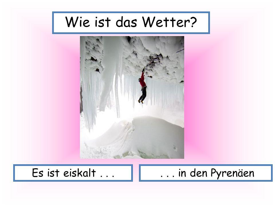 Es ist eiskalt...... in den Pyrenäen Wie ist das Wetter?